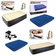 Raised Air Bed Airbed Mattress Single Double Built In Pump Double Flocked