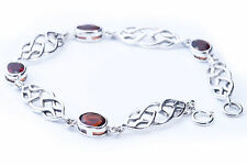 Bracelet Celtic Celtic Knots Chain with Crystal stones 925 Sterling silver