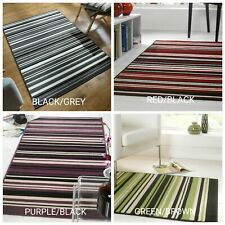 Modern Striped Rug - Runner, Red Green Purple Grey Beige in Various size Carpet