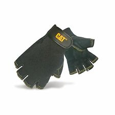 Caterpillar 12202 Reversed Half Finger Pigskin Gloves / Mens Gloves / Gloves