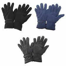 FLOSO Mens Thinsulate Winter Thermal Fleece Gloves (3M 40g)