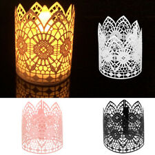 6 Votive Tealight Wedding Candle Holder Lanterns Electronic Party Tea Light LED