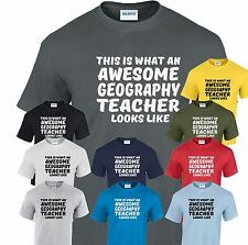 This is What an Awesome Geography Teacher looks like T shirt New Funny Gift