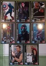 Marvel Cinematic Universe Hero Attax Avengers Weapons Select from #201 - #208