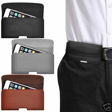 Horizontal PU Leather Pouch Belt Clip Case For LG Magna