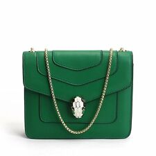 Cool Snake Button Leather Women Handbags Ladies Small Travel Crossbody Bags