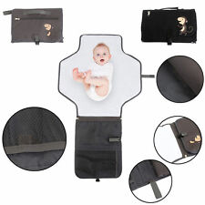 Waterproof Baby Diaper Pad Changing Mat Nappy Bag+Storage Pockets Diaper Clutch