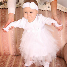 Baptism Baby Dress Handmade Baby Girl Dress Newborn Outfit Infant Cotton Dress