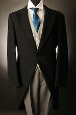 MJ-69 MEN'S BLACK TWO PIECE FORMAL TAILS SUIT SET FOR ASCOT/WEDDING/TAILCOAT