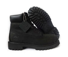 "Timberland 12907 Black 6"" Boots 100% Original Big Kids Junior Unisex New In Box"