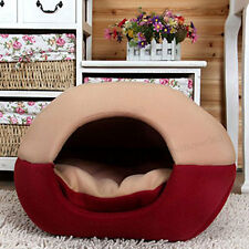 Pet Cave and Round Yurt Pet Bed Washable Removable Cushion for Cat Dog House
