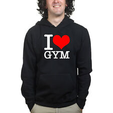 I Love Gym Sports Training Exercise Running BodyBuilding Sweatshirt Hoodie Shirt