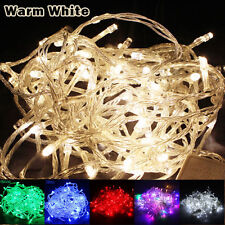 Warm White 10M 100 LED Fairy String Lights Wedding Christmas Party Xmas Lamp