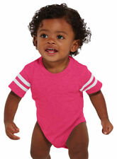 Rabbit Skins Toddler New Vintage Heathered Fine Jersey Football Bodysuit. 4437
