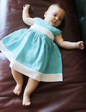 Newborn Baby Dress Handmade Infant Dress Baby Girl Outfit Baby Toddler Clothes