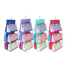 New 6 Pockets Purse Handbag Closet Organizer Door Hanging Storage Rack