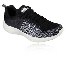 Skechers Burst Ellipse Womens White Black Cushioned Running Shoes Trainers Pumps