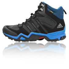 Adidas Fast X High Mens Blue Black Waterproof Gore Tex Trail Walking Boots Shoes
