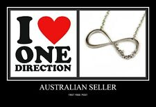 One Direction Fans Silver Infinity Necklace, One directioner Necklace Rrp $24.95
