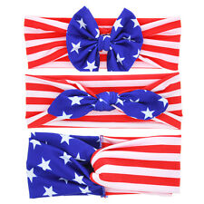 Baby Girls Rabbit Ears Hairband Bow Knot Twist Head Wrap Turban Flag Headband
