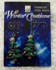 CLASSIC PIERCED EARRINGS TREE LIGHTS GARLAND EVERGREEN SPRUCE DECORATIONS CH-10