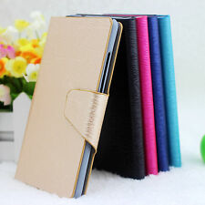 For Sony Xperia Acro S LT26w Wood Vein PU Leather Flip Wallet Case Cover