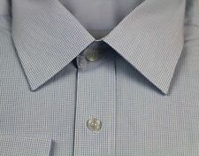 MENS BUSINESS/CASUAL/DRESS/WORK LONG SLEEVE BLUE WHITE SHIRT SHIRTS  RRP $59.95