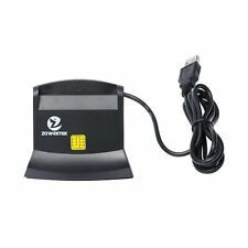 Zoweetek® DOD Military USB Common Access CAC Smart Card Reader for Card All in