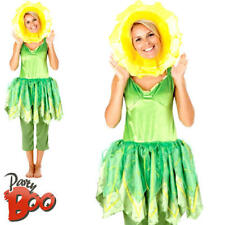 Bill & Ben Little Weed Flower Ladies Fancy Dress Flower Character Adults Costume