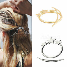 Fashion Women Star Updo Hoop Hair Pin Stick Accessories Jewelry Gold / Silver