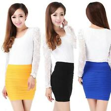 Women Seamless Tight Sexy Bodycon Clubware Mini Skirt Short Pencil Dress TOP