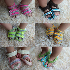 New Handmade Knit Crochet Baby Barefoot Sandals Shoes Foot Jewerly Photo Prop