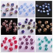 30pcs 8mm Faceted Crystal Glass Charms Helix Twist Findings Loose Spacer Beads