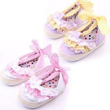 Baby Infant Prewalker Toddler Kid Girl Lace Soft Sole Anti-slip Crib Shoes 0-18M