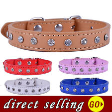 Leather Studded Dog Collar Adjustable Small Dog Necklace Pet Products For Dogs