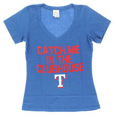 5TH & OCEAN Womens Texas Rangers Catch Me in Clubhouse T Shirt Royal Blue