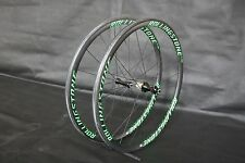 New Rolling Stone Carbon 700C Road wheelset 35mm clincher tubular green