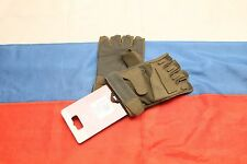 Russian army Splav Force tactical gloves half finger olive