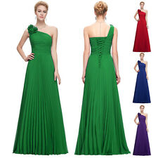One Shoulder Wedding Long Bridesmaid Dress Formal Evening Party Gowns Cocktail