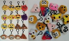 Emoji Keyring Amusing Yellow Cushion Round Stuffed Soft toy novelty Keychain