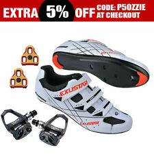 EXUSTAR E-SR493 Road Bike Bicycle Cycling Shimano Look Shoes + Sealed Pedals