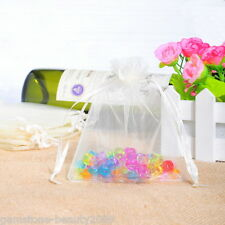 Wholesale HOT! Jewelry Organza Bags &Pouch Wedding Gift White Drawable