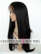 6A Indain Remy Human Hair Yaki Lace Front Wigs Light Yaki Straight Full Lace Wig