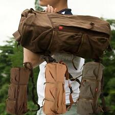 Men's Vintage Canvas Backpack Rucksack Shoulder Bag Travel Camping Hiking Bag