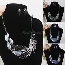 Fashion Women Jewelry Set Peacock Pendant and Earring Party Jewelry New