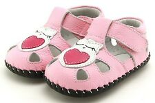 "Freycoo ""Hoot"" Pink Girls Soft Sole Leather Shoes 6 to 24 months Baby Toddler"