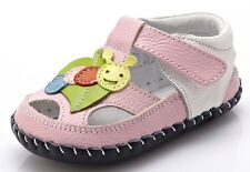 """YXY """"Leaf"""" Pink Leather Girls Soft Sole Shoes 6 to 24 months Baby Toddler"""