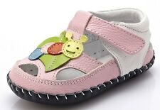 "YXY ""Leaf"" Pink Leather Girls Soft Sole Shoes 6 to 24 months Baby Toddler"
