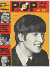 THE BEATLES POP WEEKLY No 6 THIRD YEAR Magazine rare and collectable