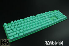 Green 60/87/104 Top/Side/Non PBT KeyCap Set printed for Cherry switch NPKC